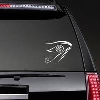 Hypnotic Evil Eye Sticker on a Rear Car Window example