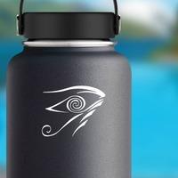 Hypnotic Evil Eye Sticker on a Water Bottle example