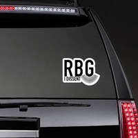 I Dissent RBG Collar Sticker on a Rear Car Window example