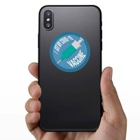 I Got My Covid-19 Vaccine Sticker on a Phone example