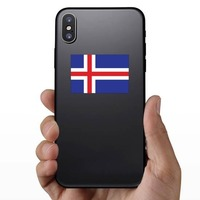 Iceland Flag Sticker on a Phone example