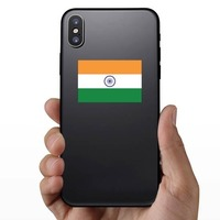 India Country Flag Sticker on a Phone example