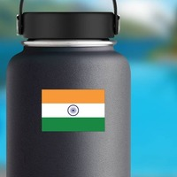 India Country Flag Sticker on a Water Bottle example