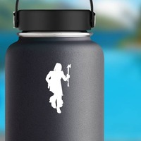 Indian Dancing With Ax Sticker on a Water Bottle example