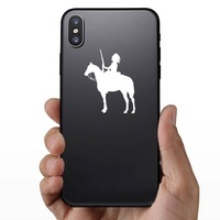 Indian On A Horse Sticker on a Phone example