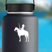 Indian On A Horse Sticker on a Water Bottle example