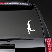Indian Running Sticker on a Rear Car Window example