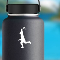 Indian Running Sticker on a Water Bottle example