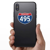 Interstate 495 Sign Sticker on a Phone example