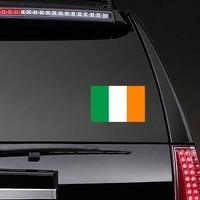 Ireland Flag Sticker on a Rear Car Window example