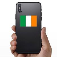 Ireland Flag Sticker on a Phone example