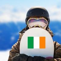 Ireland Flag Sticker on a Snowboard example