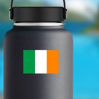 Ireland Flag Sticker on a Water Bottle example