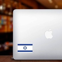 Israel Flag Sticker on a Laptop example