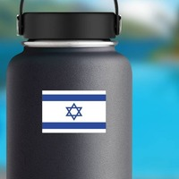 Israel Flag Sticker on a Water Bottle example