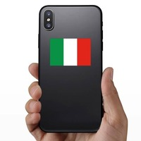 Italy Flag Sticker on a Phone example