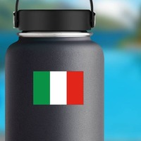 Italy Flag Sticker on a Water Bottle example