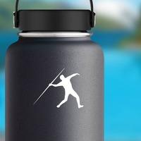 Javelin Runner Sticker on a Water Bottle example