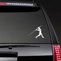 Javelin Thrower Sticker on a Rear Car Window example