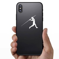 Javelin Thrower Sticker on a Phone example