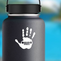 Jeep Wave Sticker on a Water Bottle example