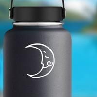 Joyful Moon Sticker on a Water Bottle example