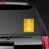 Keep Calm And Drink Beer Rectangle Sticker on a Rear Car Window example