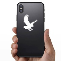 Landing Eagle Sticker on a Phone example