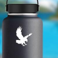 Landing Eagle Sticker on a Water Bottle example