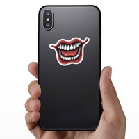 Laughing Joker Comic Sticker on a Phone example