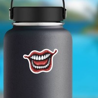 Laughing Joker Comic Sticker on a Water Bottle example