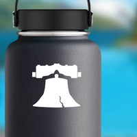 Liberty Bell Sticker on a Water Bottle example