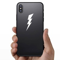 Classic Lightning Bolt Sticker on a Phone example
