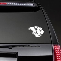 Lion With Mane Sticker on a Rear Car Window example
