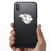 Lion With Mane Sticker on a Phone example