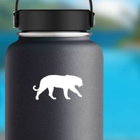 Lioness Lion Walking Sticker on a Water Bottle example