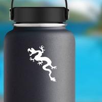 Lizard Dragon Sticker on a Water Bottle example