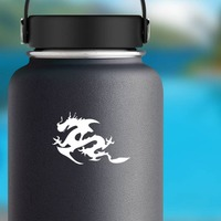 Long Chinese Dragon Sticker on a Water Bottle example