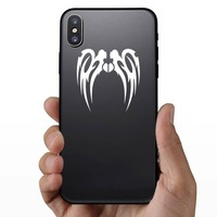Long Tribal Wings Design Sticker on a Phone example
