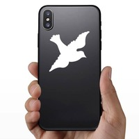 Lovely Dove Sticker on a Phone example