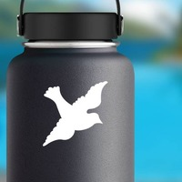Lovely Dove Sticker on a Water Bottle example