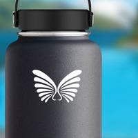 Lovely Wings Sticker on a Water Bottle example