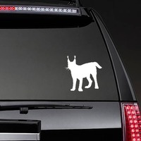 Lynx Cub Sticker on a Rear Car Window example