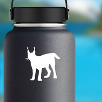 Lynx Cub Sticker on a Water Bottle example