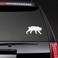 Lynx Sticker on a Rear Car Window example