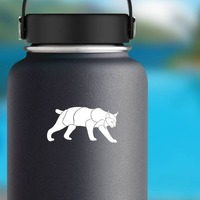 Lynx Sticker on a Water Bottle example