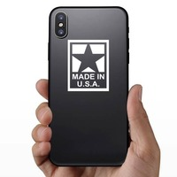 Made In Usa Sticker on a Phone example