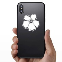 Magnificent Hibiscus Flower Sticker on a Phone example
