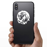 Magnificent Lion Sticker on a Phone example