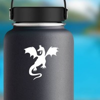 Malicious Dragon Sticker on a Water Bottle example